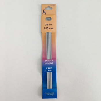 Knitting Needles - 3.25mm - double end set of 4